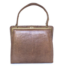 Load image into Gallery viewer, Fabulous Vintage 50s Small And Dainty Lizard Skin In Taupe By Fassbender-Vintage Handbag, Exotic Skins-Brand Spanking Vintage