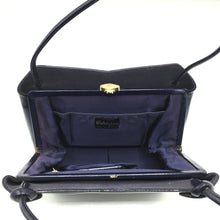 Load image into Gallery viewer, Exquisite Vintage Waldybag in Navy Patent Leather in Dainty Kelly Bag Style w/ Matching Silk Coin Purse-Vintage Handbag, Kelly Bag-Brand Spanking Vintage