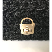 Load image into Gallery viewer, Vintage Raffia Style Woven 50s, 60s, Italian Vintage Handbag w/ Gilt Postman's Lock Clasp, Medium Size In Excellent Condition-Vintage Handbag, Dolly Bag-Brand Spanking Vintage