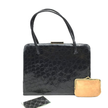 Load image into Gallery viewer, Vintage Superb Crocodile Handbag w/ Matching Coin Purse And Mirror-Vintage Handbag, Exotic Skins-Brand Spanking Vintage