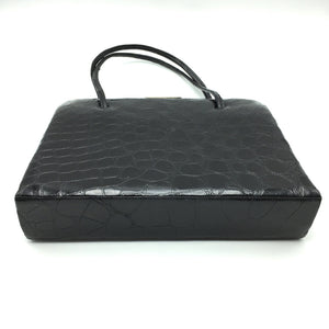 Vintage Superb Crocodile Handbag w/ Matching Coin Purse And Mirror-Vintage Handbag, Exotic Skins-Brand Spanking Vintage