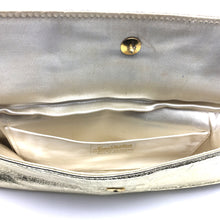 Load image into Gallery viewer, Vintage 50s/60s Gold Leather Clutch Evening Bag By Jane Shilton-Vintage Handbag, Evening Bag-Brand Spanking Vintage