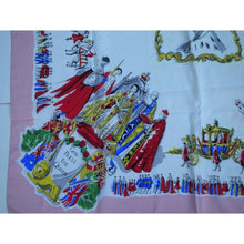 Load image into Gallery viewer, Large Scarf Commemorating The Coronation Of Queen Elizabeth II In 1953 In Vibrant Colours-Scarves-Brand Spanking Vintage