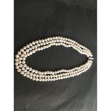 "Load image into Gallery viewer, Triple Strand Of Genuine Cultured 6-7mm Pearls 16""/17""/18"" Approx Length w/ Silver Metal Clasp-Accessories, For Her-Brand Spanking Vintage"
