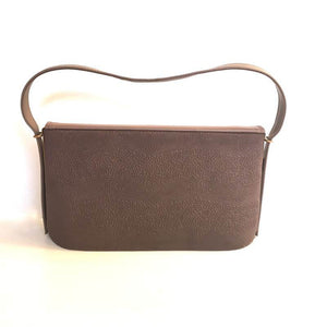 Vintage 1940s/1950s Handbag In Faux Leather, Vegan, Attached Coin Purse, Original Mirror And Gilt Clasp In Taupe In Excellent Condition-Vintage Handbag, Kelly Bag-Brand Spanking Vintage