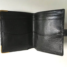 Load image into Gallery viewer, Vintage 50s 60s Black Lizard Skin Unused Kelly Bag w/ Beehive Clasp And Matching Lizard Wallet By Mappin & Webb-Vintage Handbag, Exotic Skins-Brand Spanking Vintage