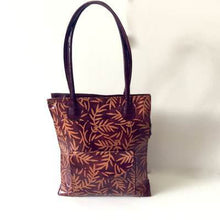 Load image into Gallery viewer, Vintage 70s Iconic Large Tooled Leather Tote Bag In Maroon And Orange-Vintage Handbag, Large Handbag-Brand Spanking Vintage