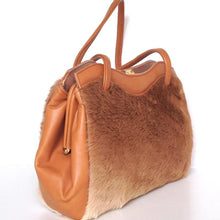 Load image into Gallery viewer, Vintage 70s Large Kangaroo Fur And Leather Pristine Twin Handled Handbag By M&H Levy Pty Sydney Australia-Vintage Handbag, Exotic Skins-Brand Spanking Vintage