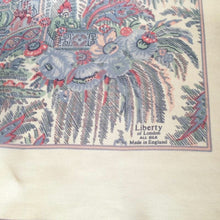 Load image into Gallery viewer, Vintage 70s Large Silk Scarf In Delicate Shades Of Blue/Pink On A Cream Background By Liberty Of London-Scarves-Brand Spanking Vintage