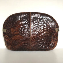 Load image into Gallery viewer, Vintage 80s Large Turtle Skin Clutch Bag In Rich Conker Brown w/ Optional Decorative Chain By Ottino Made In Florence Italy-Vintage Handbag, Exotic Skins-Brand Spanking Vintage