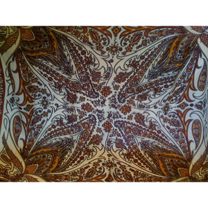 Vintage Collectable Silk Scarf By Richard Allan In Rust And Gold Paisley-Scarves-Brand Spanking Vintage