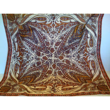 Load image into Gallery viewer, Vintage Collectable Silk Scarf By Richard Allan In Rust And Gold Paisley-Scarves-Brand Spanking Vintage