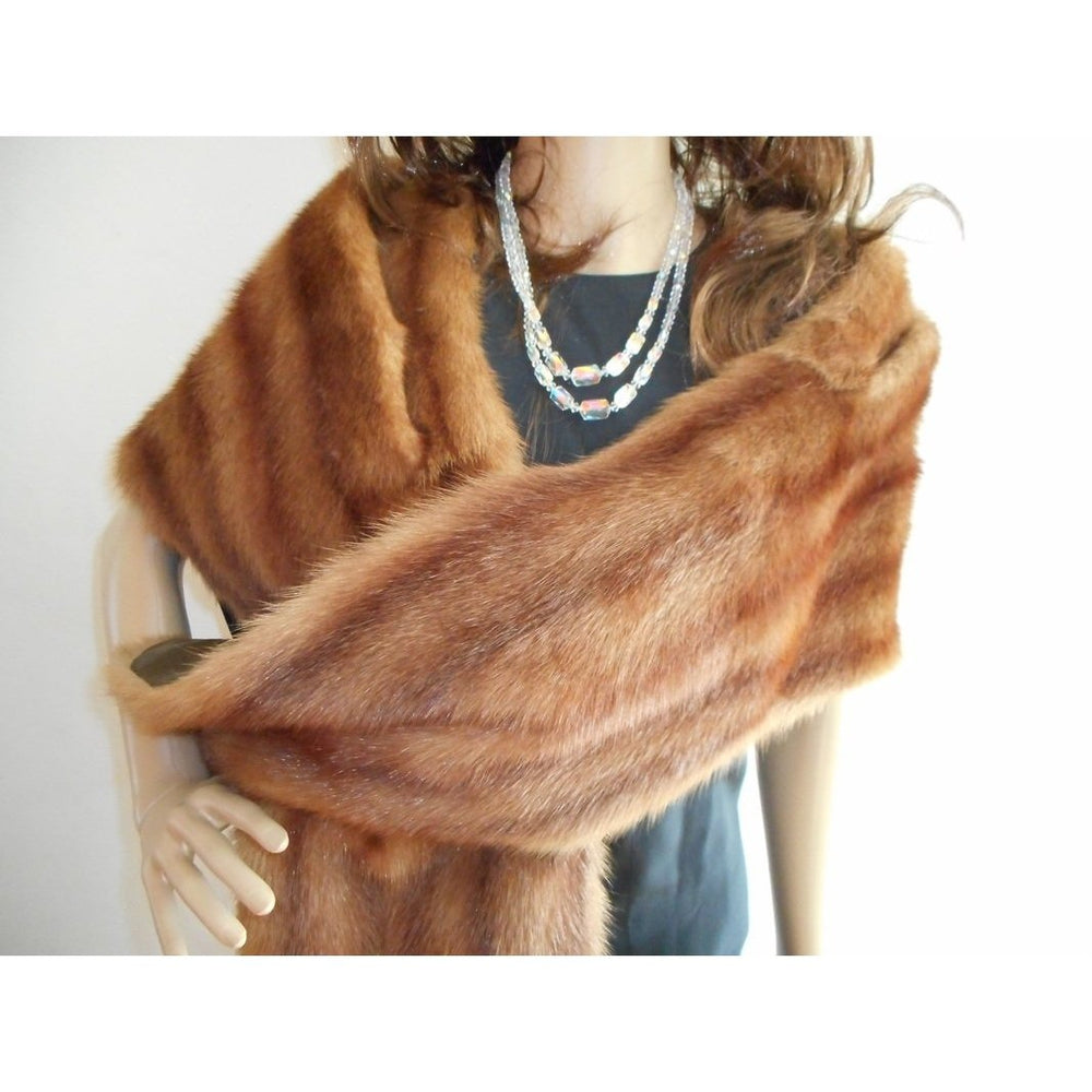 Vintage Fabulous 50s Long Mink Stole/Wrap With Shaped Shoulders-Accessories, For Her-Brand Spanking Vintage
