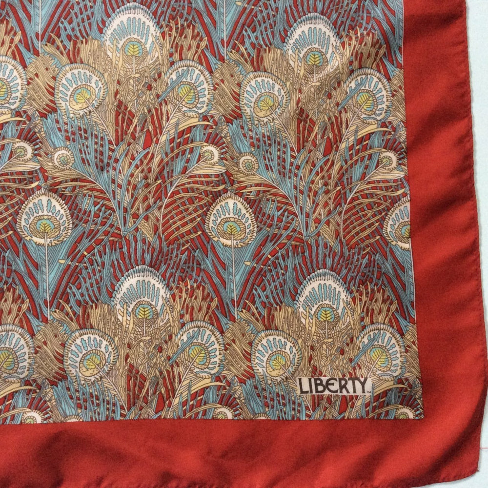 Vintage Small Liberty Of London Silk Scarf In Iconic 'Hera' Design-Scarves-Brand Spanking Vintage