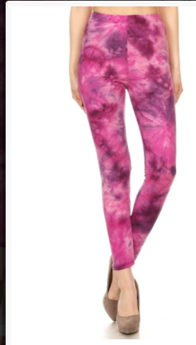 SALE! Pink Leggings Tie Dye One Size Fits Most