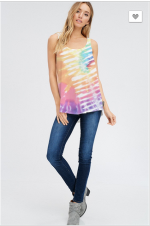 sale !Tie Dye Tank- In stock