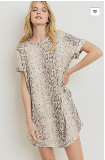 SALE! SNAKE PRINT MINI THERMAL DRESS