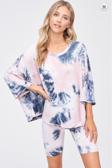 SALE!Tie dye short sleeve set