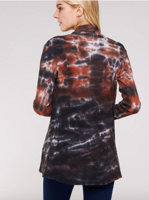 SALE! Charcoal Crystal Tie dye Long Sleeve A-line Thermal Cardigan***Note each one is different!