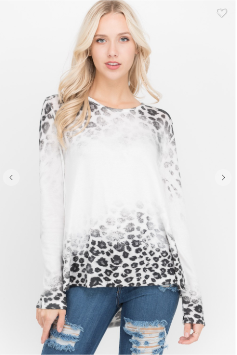 SALE! Long Sleeve top leopard print