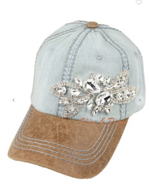 Glitz deco two tone baseball cap