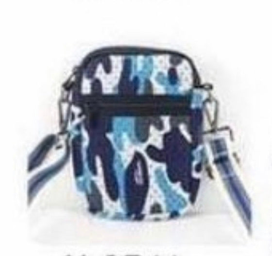 Blue Camo Cell Bag
