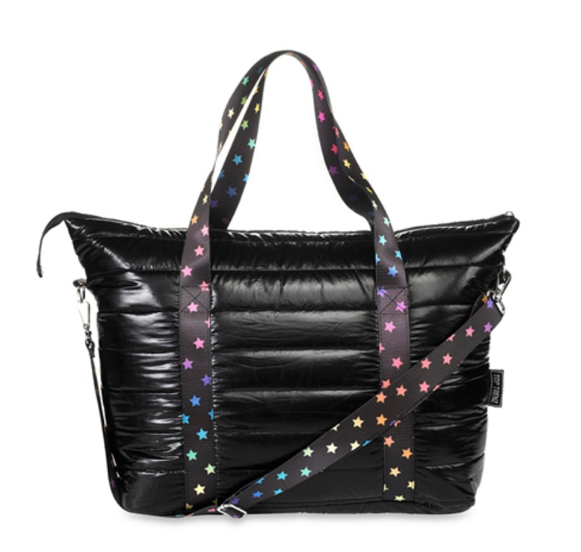 Black Scatter Star Tote