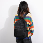 Colourblock unisex nylon backpack