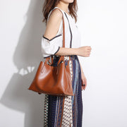 Stud magnetic snap smooth PU leather tote bag