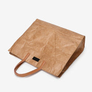 Large creased shopper tote