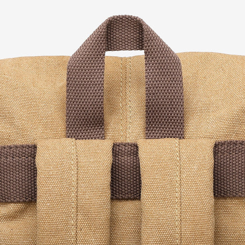 Strapped unisex canvas backpack