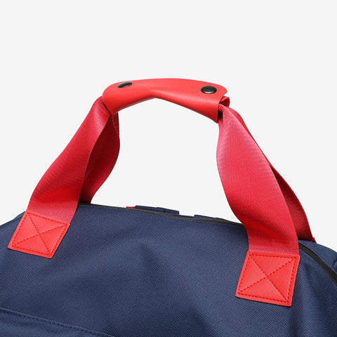 Colourblock top handle unisex nylon backpack