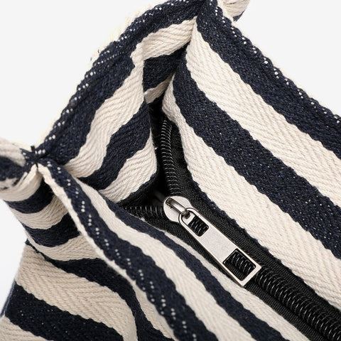 Striped canvas tote