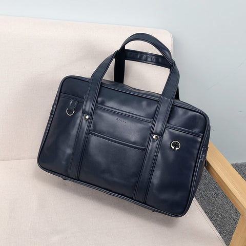 Smart classic unisex PU leather bag