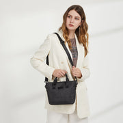 Top-handle nylon crossbody bag