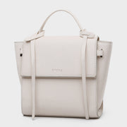 230103-STRAPPED-HANDLE-FLAP-FRONT-PU-LEATHER-CROSSBODY-BAG-WHITE