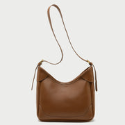 Modern topstitch streamlined PU leather crossbody bag