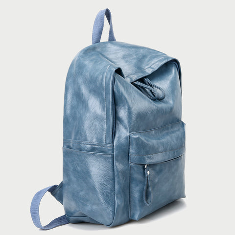 Smart casual marble-effect PU leather backpack