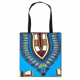 tote bag dashiki bleu