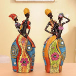 statuette couple africain