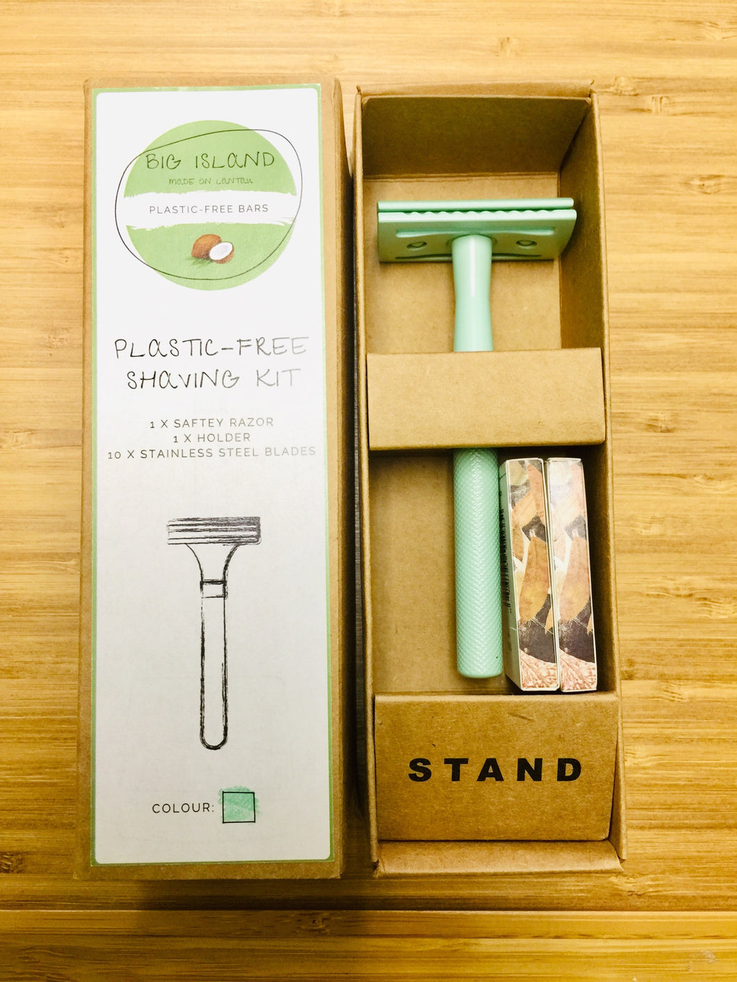 Plastic Free Shaving Kit Big Island (GREEN)