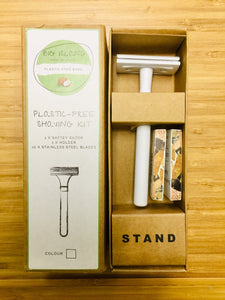 Plastic Free Shaving Kit Big Island (WHITE)