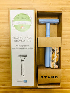 Plastic Free Shaving Kit Big Island (BLUE)