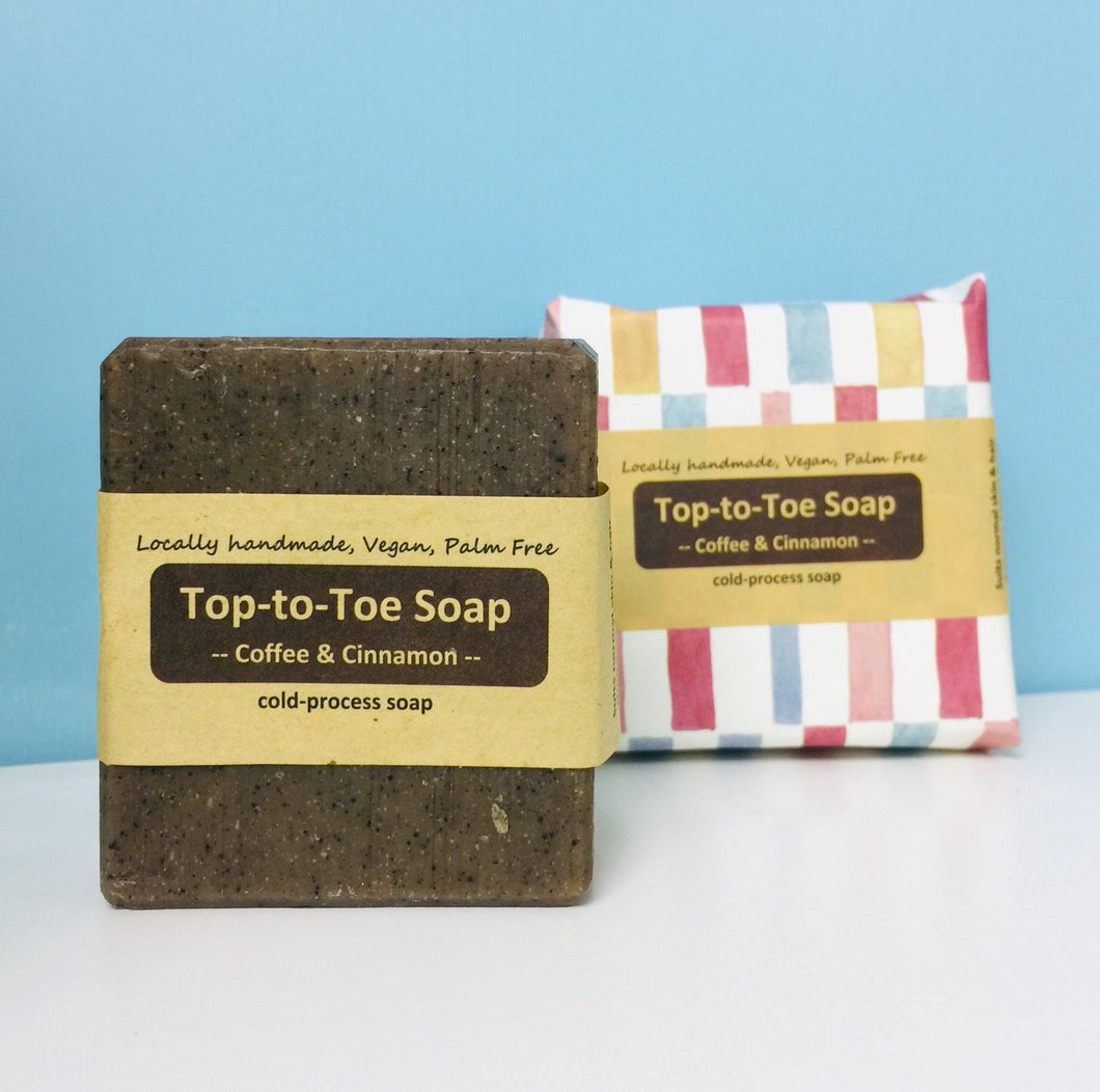 Top to Toe Soap Coffee and Cinnamon 95g Soaper Delights