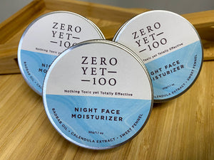 NIGHT Face Moisturiser (30g) ZeroYet100