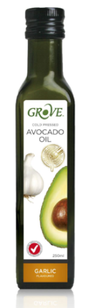 Avocado Oil (250ml) GARLIC (Cold Pressed Extra Virgin) 'Grove'