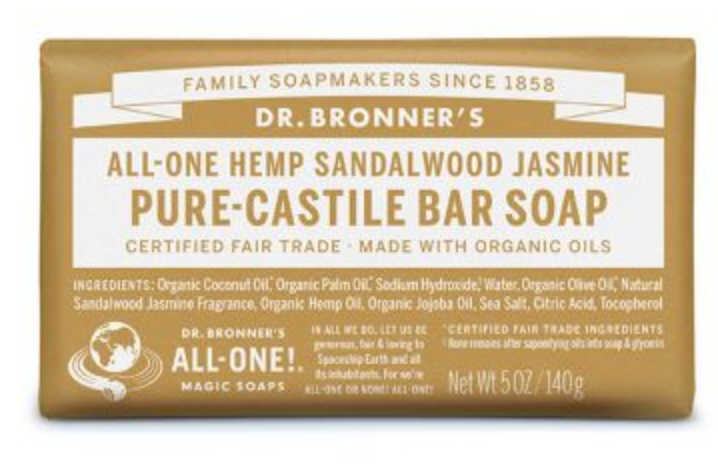 Dr Bronner's Bar Soap (Sandalwood Jasmine)