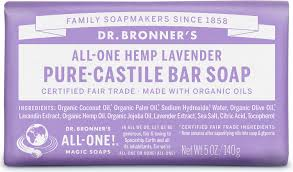 Dr Bronner's Bar Soap (Lavender)