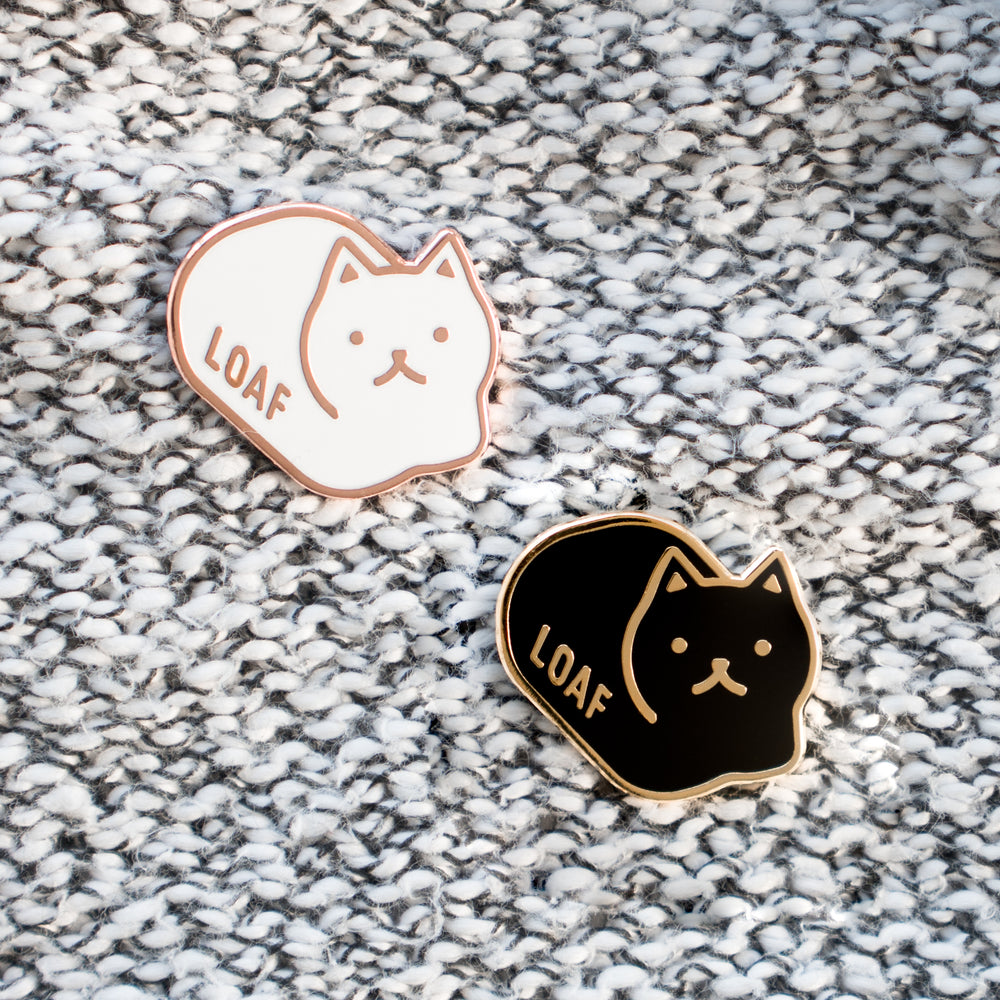 Loaf Cat Enamel Pins