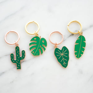 Load image into Gallery viewer, Plant Enamel Keychains